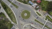 тележка : Roundabout from above, multi-lane Стоковые видеозаписи