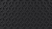 geometria : Arabesque looping geometric pattern. Black and metal islamic 3d motif. Arabic oriental animated background. Muslim moving wallpaper. Asian ornament with circles. Ethnic design element decoration.