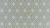 arte islamico : Arabesque looping geometric pattern. Olive and white islamic 3d motif. Arabic oriental animated background. Muslim moving wallpaper. Asian ornament with circles. Ethnic design element decoration. Archivo de Video