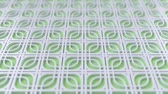 sfondi animati : Arabesque looping geometric pattern. Green and white islamic 3d motif. Arabic oriental animated background. Muslim moving wallpaper. Asian ornament with squares. Ethnic design element decoration. Filmati Stock