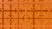 arte islamico : Arabesque looping geometric pattern. Orange islamic 3d motif. Arabic oriental animated background. Muslim moving wallpaper. Asian ornament with squares. Ethnic design element decoration.