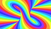 錯覚 : Spectrum psychedelic optical illusion. Abstract rainbow hypnotic animated background. Bright looping colorful wallpaper. Surreal multicolor dynamic backdrop. 3D seamless full HD animation 動画素材