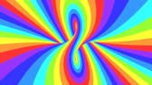 filare : Spectrum psychedelic optical illusion. Abstract rainbow hypnotic animated background. Bright looping colorful wallpaper. Surreal multicolor dynamic backdrop. 3D seamless full HD animation Filmati Stock