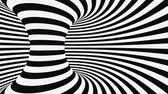 hidromasaje : Black and white psychedelic optical illusion. Abstract hypnotic animated background. Spiral geometric looping monochrome wallpaper. Surreal modern dynamic backdrop. 3D seamless full HD animation