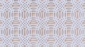 arte islamico : Arabesque looping geometric pattern. Beige and white islamic 3d motif. Arabic oriental animated background. Muslim moving wallpaper. Asian ornament with circles. Ethnic design element decoration.