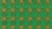 arte islamico : Arabesque looping geometric pattern. Gold and green islamic 3d motif. Arabic oriental animated background. Muslim moving wallpaper. Asian ornament with circles. Ethnic design element decoration. Archivo de Video