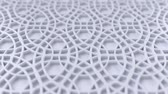 arte islamico : Arabesque looping geometric pattern. White islamic 3d motif. Arabic oriental animated background. Muslim moving wallpaper. Asian ornament with circles. Ethnic design element decoration. Archivo de Video