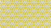 arte islamico : Arabesque looping geometric pattern. White and yellow islamic 3d motif. Arabic oriental animated background. Muslim moving wallpaper. Asian ornament with triangles. Ethnic design element decoration.