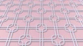 arte islamico : Arabesque looping geometric pattern. Pink and white islamic 3d motif. Arabic oriental animated background. Muslim moving wallpaper. Asian ornament with squares. Ethnic design element decoration. Archivo de Video