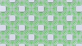 arte islamico : Arabesque looping geometric pattern. Green and white islamic 3d motif. Arabic oriental animated background. Muslim moving wallpaper. Asian ornament with circles. Ethnic design element decoration.