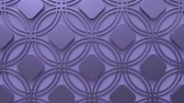 arte islamico : Arabesque looping geometric pattern. Lilac and metal islamic 3d motif. Arabic oriental animated background. Muslim moving wallpaper. Asian ornament with circles. Ethnic design element decoration.