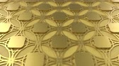 arte islamico : Arabesque looping geometric pattern. Gold islamic 3d motif. Arabic oriental animated background. Muslim moving wallpaper. Asian ornament with circles. Ethnic design element decoration.