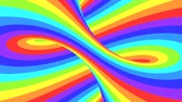 sfondi animati : Spectrum psychedelic optical illusion. Abstract rainbow hypnotic animated background. Bright looping colorful wallpaper. Surreal multicolor dynamic backdrop. 3D seamless full HD animation Filmati Stock