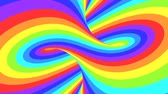 opção : Spectrum psychedelic optical illusion. Abstract rainbow hypnotic animated background. Bright looping colorful wallpaper. Surreal multicolor dynamic backdrop. 3D seamless full HD animation Stock Footage