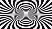 raggera : Black and white psychedelic optical illusion. Abstract hypnotic animated background. Spiral geometric looping monochrome wallpaper. Surreal modern dynamic backdrop. 3D seamless full HD animation
