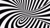 opção : Black and white psychedelic optical illusion. Abstract hypnotic animated background. Spiral geometric looping monochrome wallpaper. Surreal modern dynamic backdrop. 3D seamless full HD animation