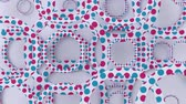 sfondi animati : Abstract geometric pattern with circles. Loopable moving background. 3d modern wallpaper with animated rings. Looping motion graphic with circular shapes.