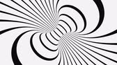 helezon : Black and white psychedelic optical illusion. Abstract hypnotic animated background. Spiral geometric looping monochrome wallpaper. Surreal modern dynamic backdrop. 3D seamless full HD animation