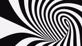 sfondi animati : Black and white psychedelic optical illusion. Abstract hypnotic animated background. Spiral geometric looping monochrome wallpaper. Surreal modern dynamic backdrop. 3D seamless full HD animation