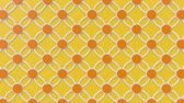 arte islamico : Arabesque looping geometric pattern. Orange and yellow islamic 3d motif. Arabic oriental animated background. Muslim moving wallpaper. Asian ornament with circles. Ethnic design element decoration. Archivo de Video