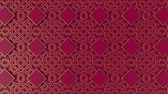 marokko : Arabesque looping geometric pattern. Gold and red islamic 3d motif. Arabic oriental animated background. Muslim moving wallpaper. Asian ornament with squares. Ethnic design element decoration.