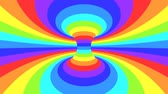 rainbow background : Spectrum psychedelic optical illusion. Abstract rainbow hypnotic animated background. Bright looping colorful wallpaper. Surreal multicolor dynamic backdrop. 3D seamless full HD animation Stock Footage