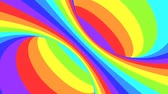 onmogelijk : Spectrum psychedelic optical illusion. Abstract rainbow hypnotic animated background. Bright looping colorful wallpaper. Surreal multicolor dynamic backdrop. 3D seamless full HD animation Stockvideo