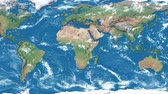 south australia : Realistic earth world map. Detailed world atlas animation. Zoom in of the australia. America, europe, africa, asia, australia on mooving map.
