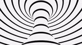 vórtice : Black and white psychedelic optical illusion. Abstract hypnotic animated background. Spiral geometric looping monochrome wallpaper. Surreal modern dynamic backdrop. 3D seamless full HD animation