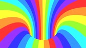 Spectrum psychedelic optical illusion. Abstract rainbow hypnotic animated background. Bright looping colorful wallpaper. Surreal multicolor dynamic backdrop. 3D seamless full HD animation Vídeos