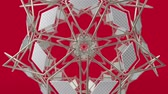 decorações : Kaleidoscopic geometric pattern, arabic mandala, mosaic looping muslim background. Abstract indian ornament, 3d render animation graphics. Moving metallic shapes.