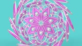 Kaleidoscopic geometric pattern, arabic mandala, mosaic looping muslim background. Abstract indian ornament, 3d render animation graphics. Moving metallic shapes.