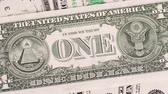 excelente : Closeup shot of United States one-dollar bill Stock Footage