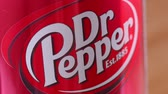 рыжий : SARANSK, RUSSIA - APRIL 25, 2017: Can of Dr Pepper closeup.