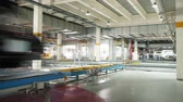 assembling : Modern automobile production line, automated production equipment(Time-lapse photography)