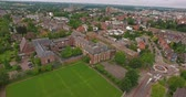 vila : Aerial view of Dutch city with orange historical builidings