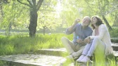 aposentadoria : Beautiful senior couple in love outside in spring nature.
