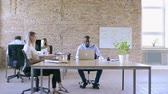 spacious : Business people in the office working together. Stock Footage