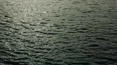 aquático : Sea ripples on the water before dawn Stock Footage