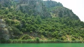 Beautiful Green Island on the Dalyan River Stockvideo