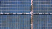 aerial view of photovoltaic panels on industry
