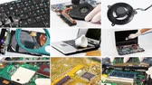 technology : Collage of computer (laptop) hardware and components