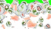 сакэ : Falling Sushi Pieces (ends on green)
