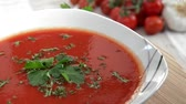 meal : Rotating Tomato Soup as endless loop video Stock Footage