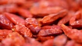 pimenta : Dried Chillis Background Video (loopable)