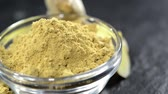 ingredient : Ginger Powder in a bowl (loopable full HD video file) Stock Footage