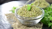 food and drink : Portion of dry Oregano (loopable) Stock Footage