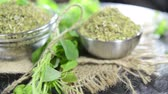 food and drink : Portion of Oregano (not loopable) Stock Footage