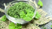 food and drink : Dried Parsley (not loopable HD video file)