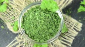 food and drink : Portion of dried Parsley (loopable HD video file)